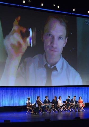 Neil Patrick Harris pops in via Skype at Paleyfest 2014.