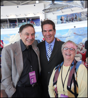 Three official Disney Legends—and terrific people—at the grand opening: songwriter Richard Sherman, Donald Duck's voice Tony Anselmo, and Minnie Mouse's voice Russi Taylor. We all missed Russi's late husband Wayne Allwine, who was Mickey's voice for many years.