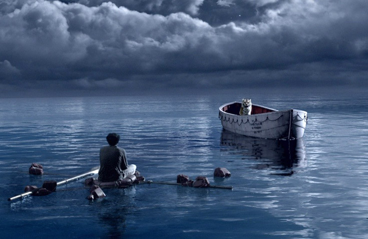 I am on a lifeboat alone with a tiger new clip from for Life of pi tiger name