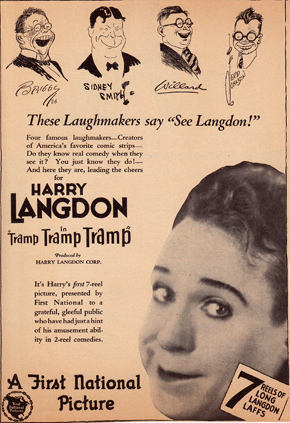 Ad for Harry Langdon Film