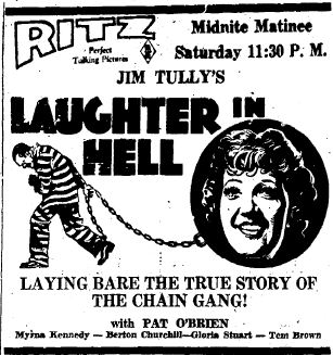 Laughter in Hell Poster