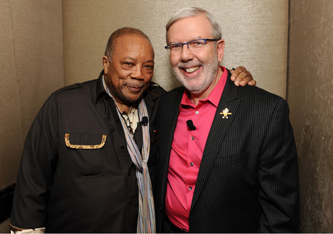 Sharing a moment with the Illustrious Quincy Jones