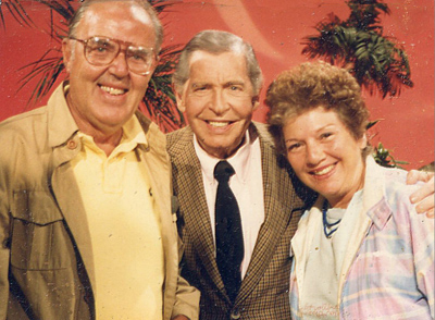 Milton Berle with dad and mom.