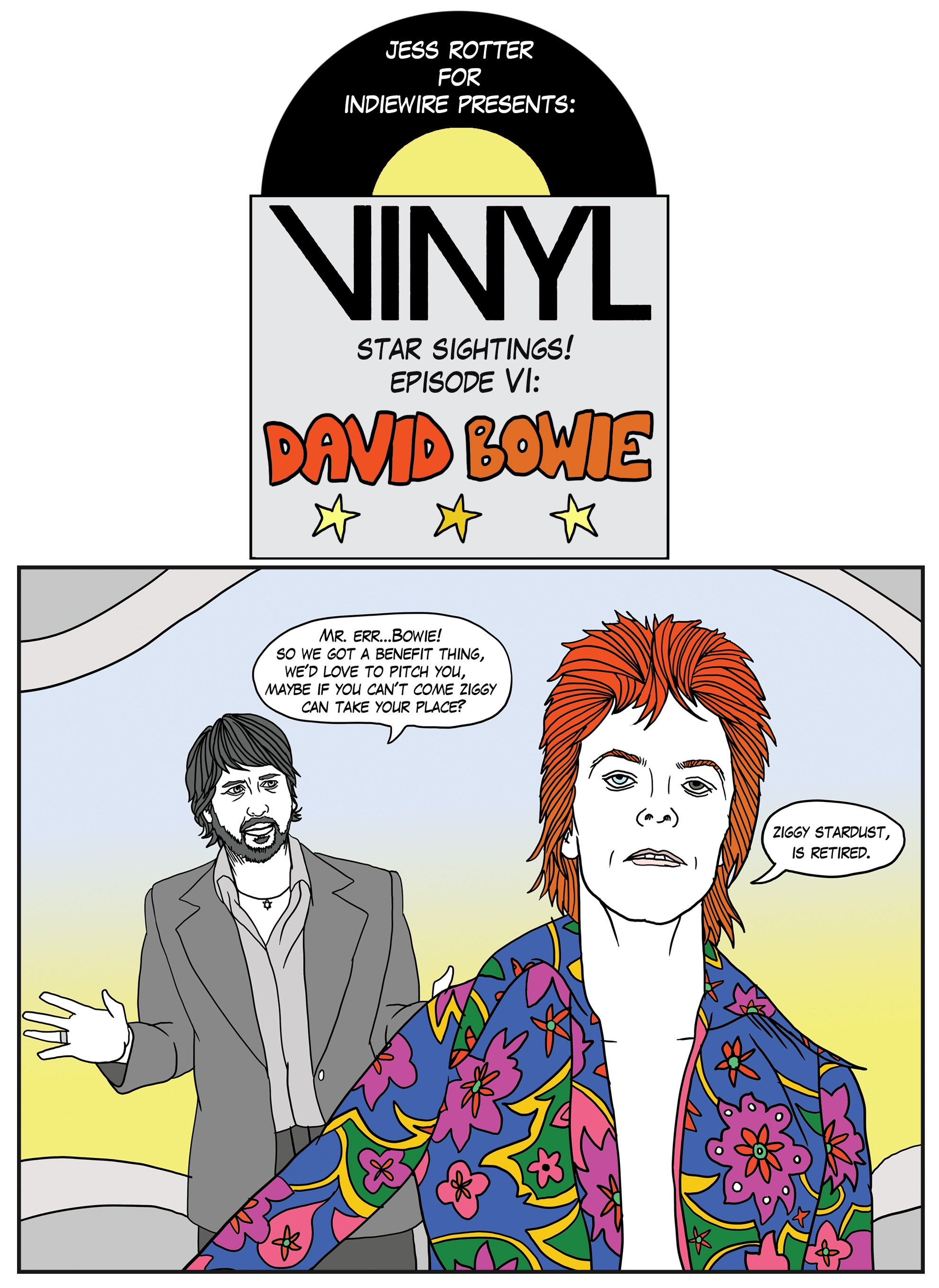 exclusive this comic reveals what happened when david bowie came to hbo s vinyl this week. Black Bedroom Furniture Sets. Home Design Ideas
