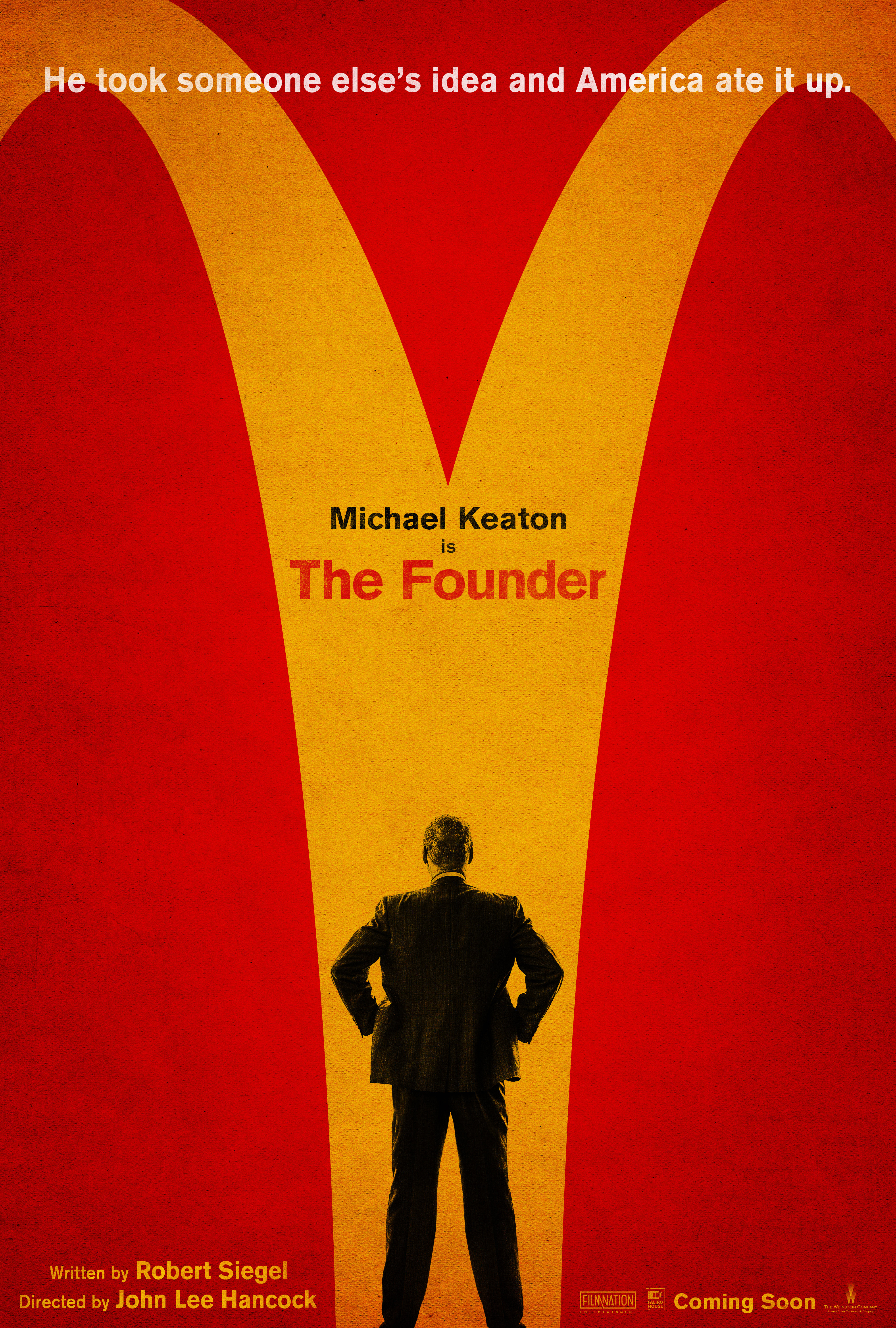 michael keaton is the founder in debut poster for anticipated