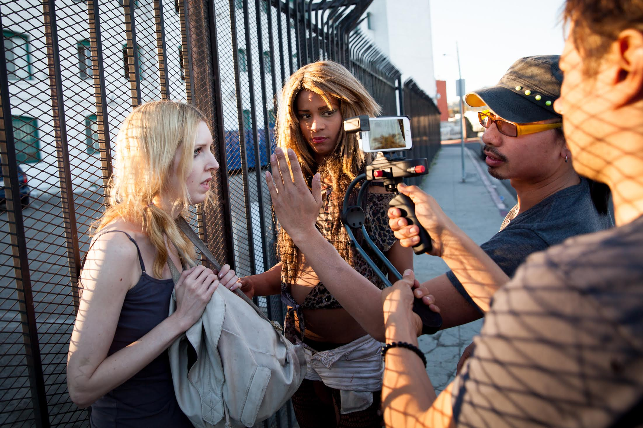 "On the set of ""Tangerine"""